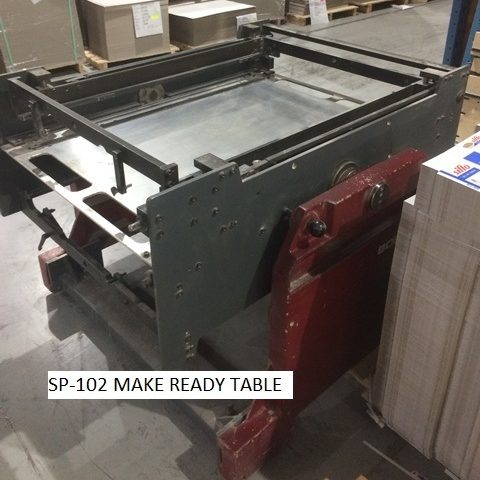2-Bobst SP 102E Make Ready Tables