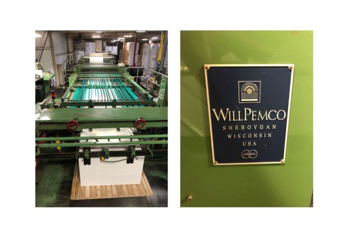 1995 WillPemco 76″ Dual Rotary Sheeter